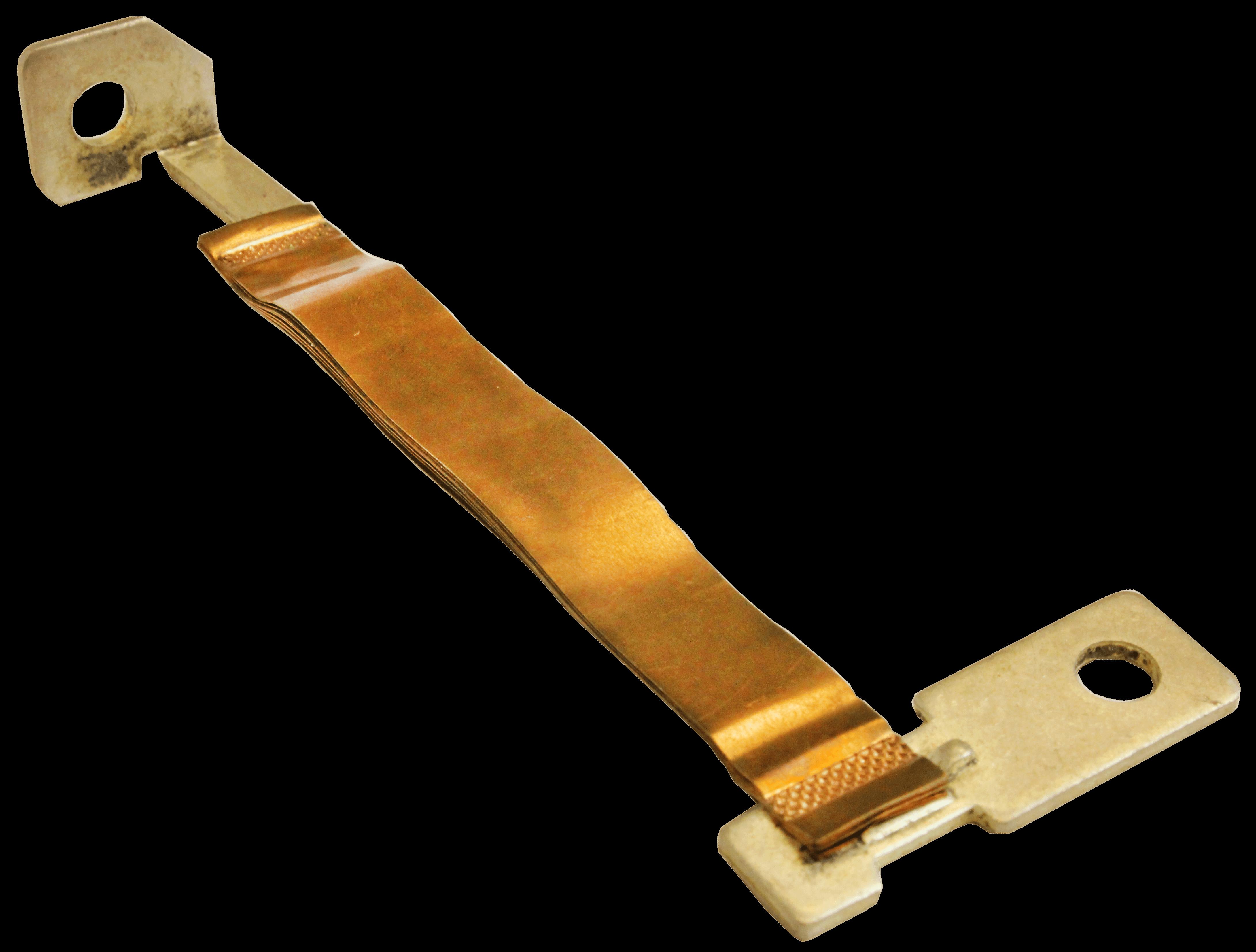 Ultrasonic spot Welder foil to terminal weld sample